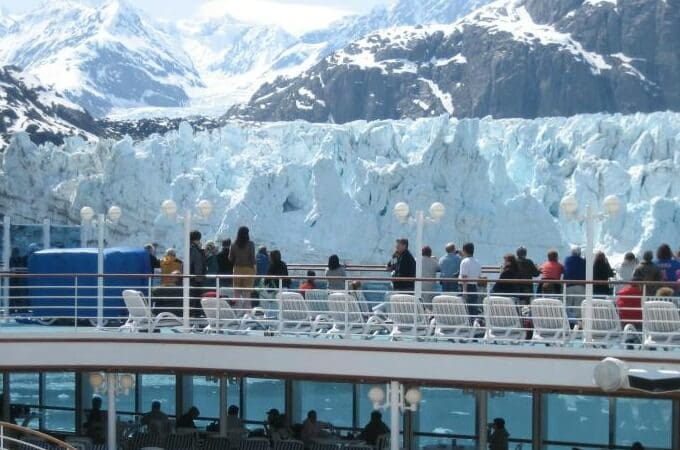 Viewing A Glacier From A Cruise Ship