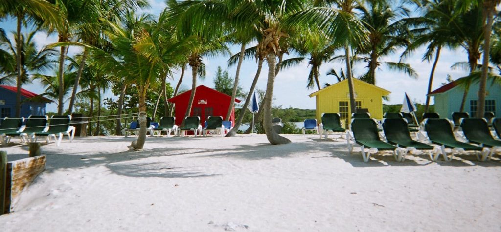 Princess Cays beach cabanas
